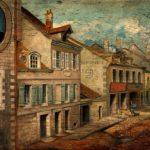 The birthplace of Louis Pasteur. Oil painting.