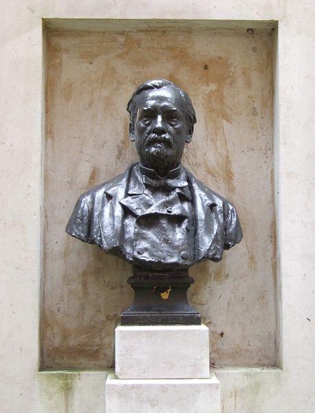 Bust of Louis Pasteur in Dôle, France