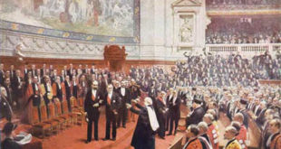 Pasteur celebrating his 70th birthday at the Sorbonne