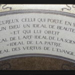 Saying above Pasteur's crypt