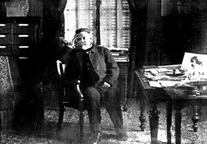 Louis Pasteur in his study