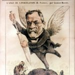 Louis Pasteur on cover of Le Don Quichotte magazine