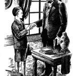 Louis Pasteur with hydrophobia survivor