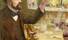 Oil painting of Louis Pasteur