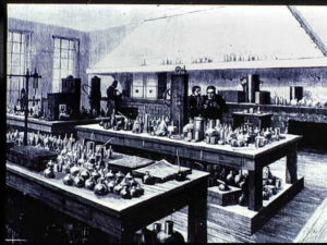 Pasteur's laboratory at the Ecole Normale