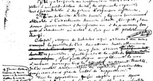 Pasteur manuscript on spontaneous generation