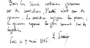 Louis Pasteur Writing Sample